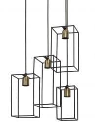 Vierkante 4-lichts hanglamp