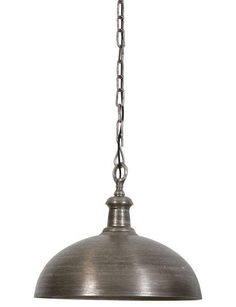 Zilveren hanglamp industrieel