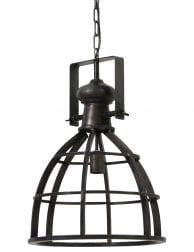 Zwart hanglampje met grof opzetstuk
