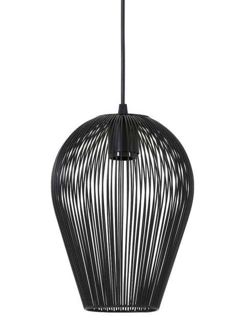 Zwarte draadlamp woonkamer