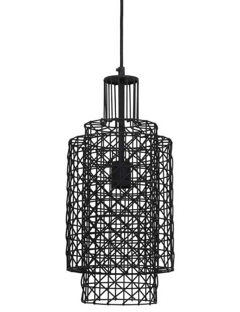 Zwarte prikkeldraad hanglamp