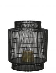 Zwarte ronde tafellamp draad