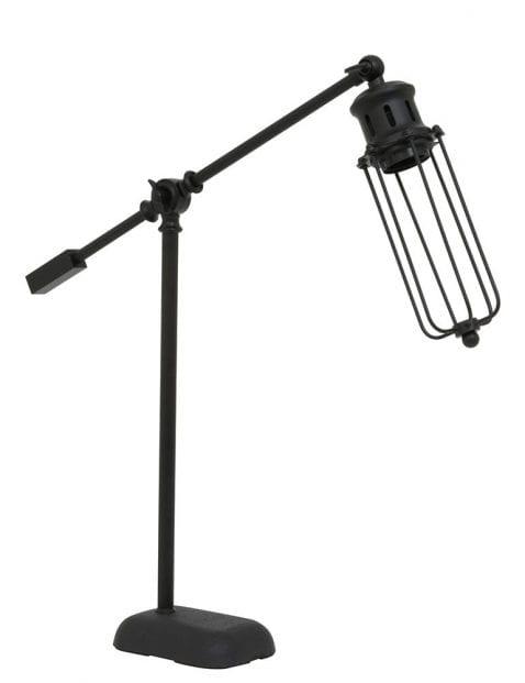 Zwarte tafellamp met kooikapje