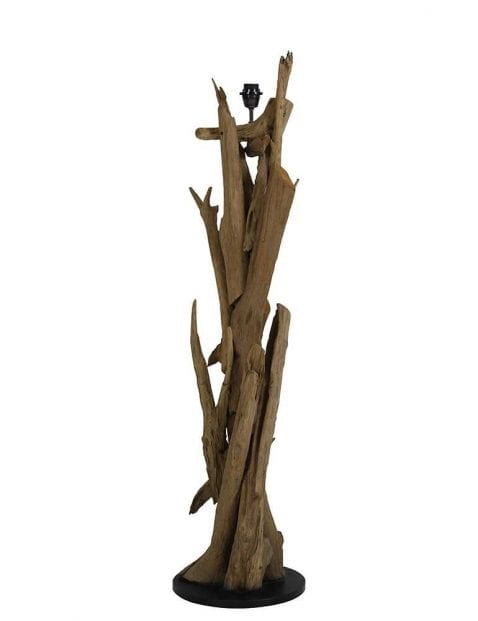 lampenvoet met uniek houten opzetstuk