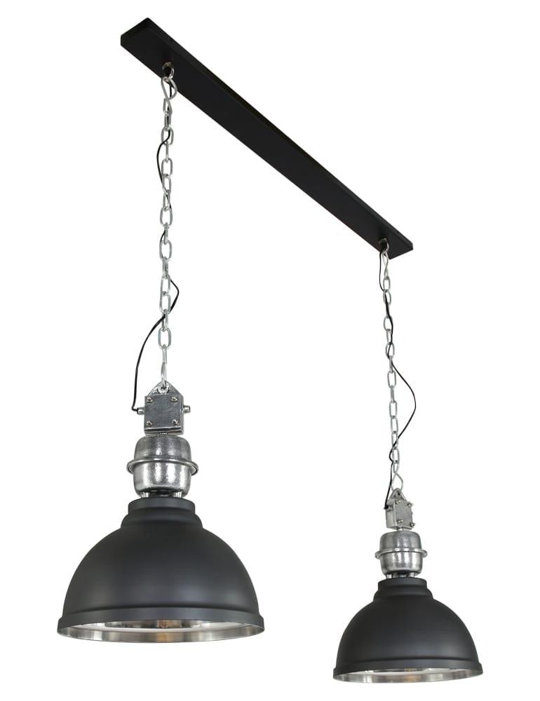 Afbeelding van 2 lichts industriele hanglamp Lumidem Clinton