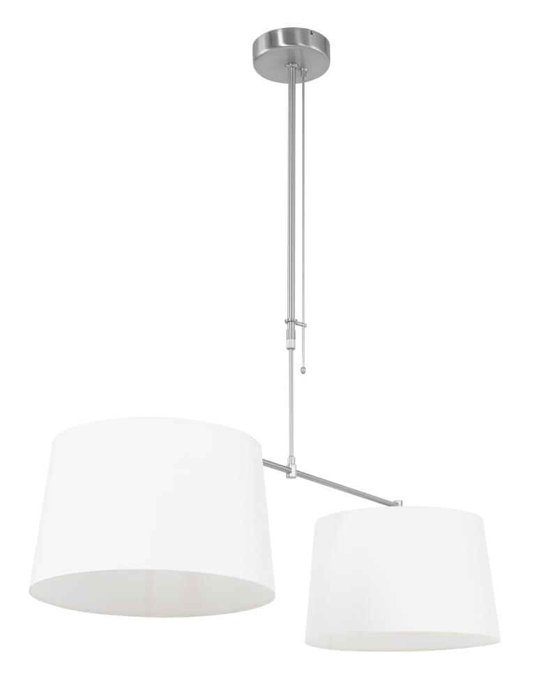 Afbeelding van 2 lichts met witte kappen Steinhauer Stresa 40cm