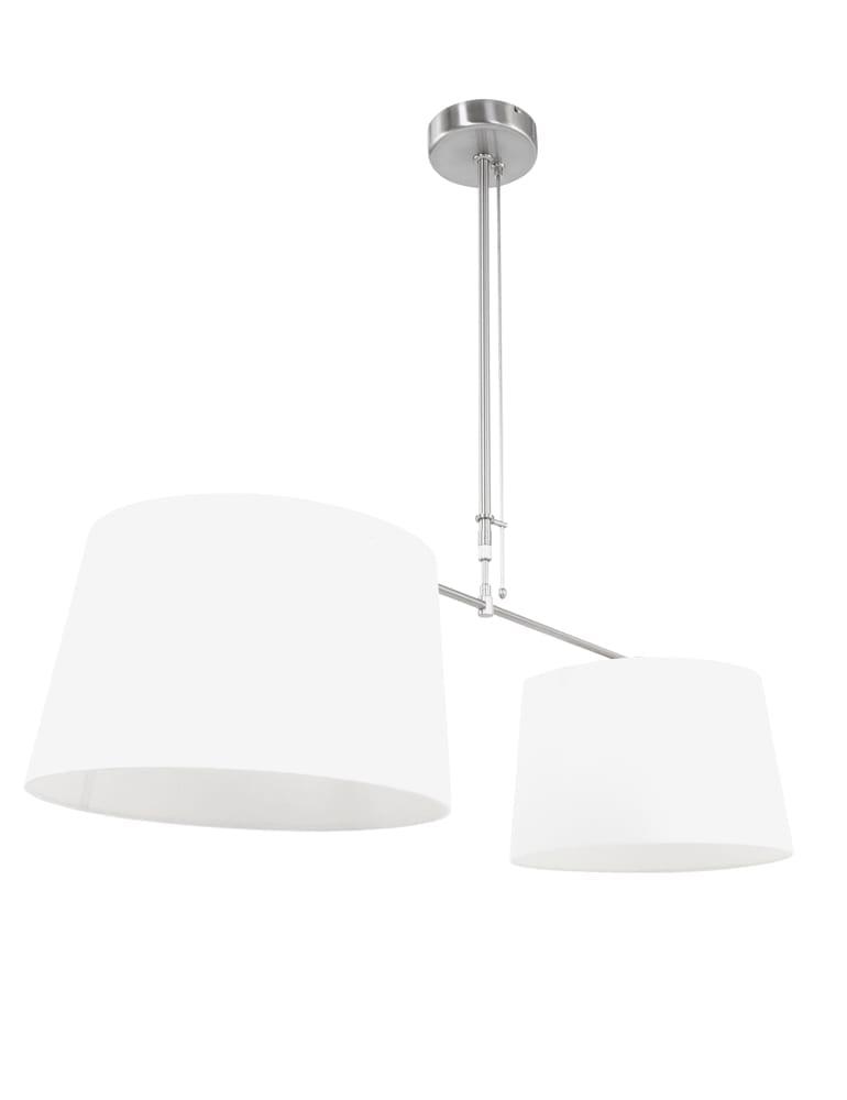 Afbeelding van 2 lichts met witte kappen Steinhauer Gramineus 40cm