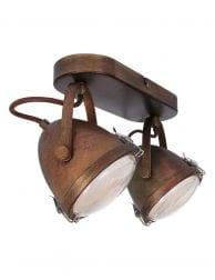 2 lichts plafondlamp vintage-1312B