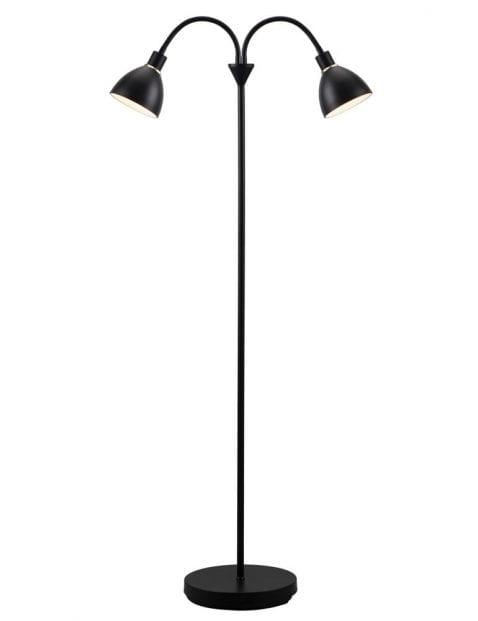 2 lichts vloerlamp zwart-2355ZW