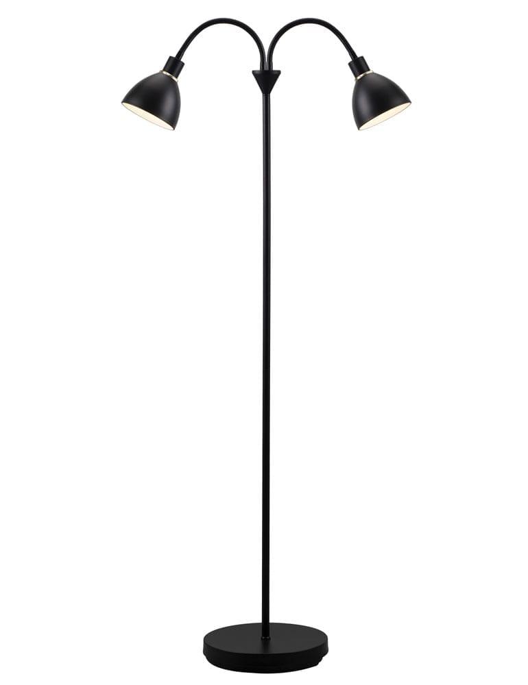 Afbeelding van 2 lichts vloerlamp zwart Nordlux Ray