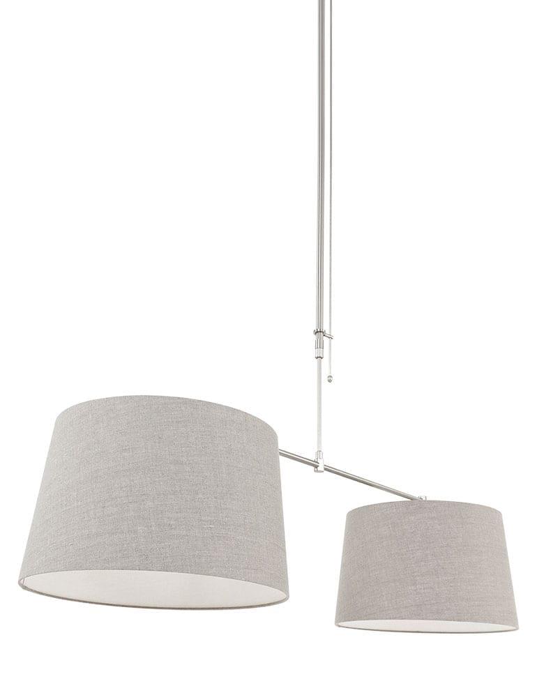 Afbeelding van 2Lichts met taupe lampenkappen Steinhauer Gramineus