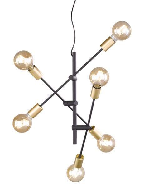 4 lichts industriele plafondlamp-1637ZW