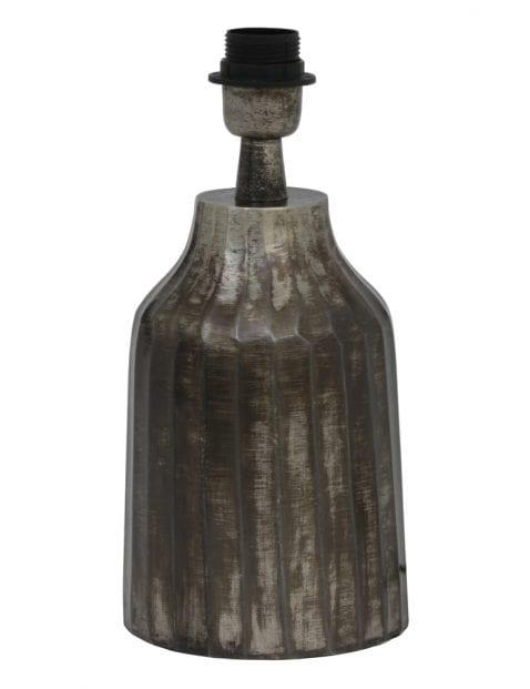 Aardewerk lampenvoet grijs 12cm-2073ZW