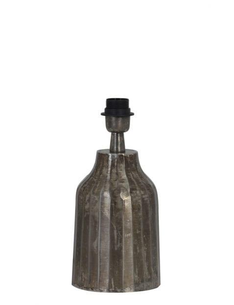Aardewerk lampenvoet grijs 12cm-2075ZW