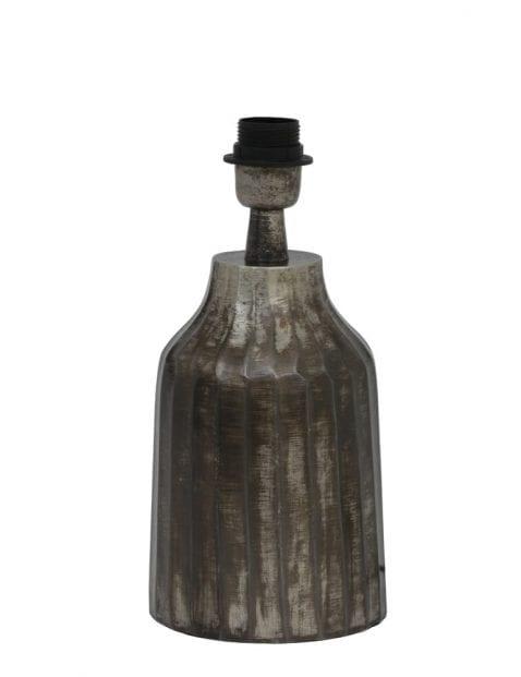 Aardewerk lampenvoet grijs 15cm-2076ZW