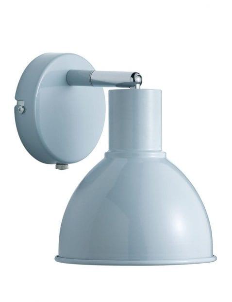 Blauwe wandlamp industrieel-2346BL