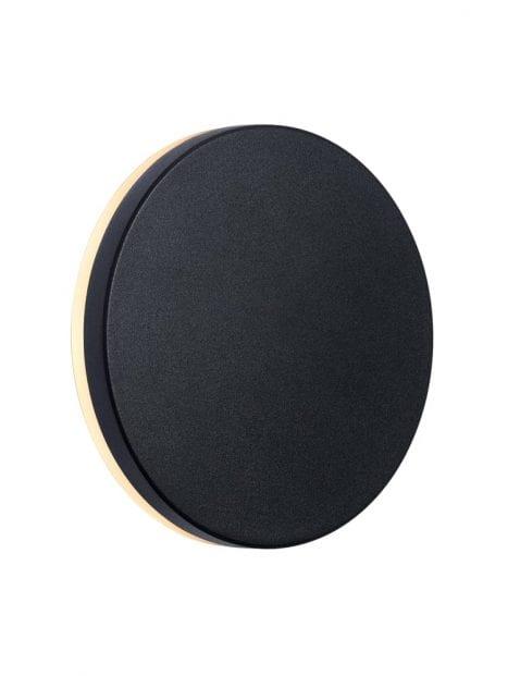 Buitenlamp ronde cirkel zwart-2302ZW