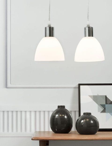 Chromen-hanglamp-met-witte-kap-2360CH-3