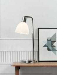 Chromen-tafellamp-met-witte-kap-2352CH-1