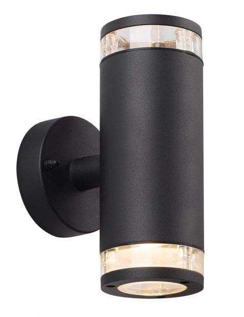 Cilinder buitenlamp zwart-2149ZW