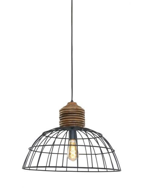 Draad hanglamp met hout-1686GR