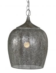 Egyptische hanglamp zilver-1691ZI