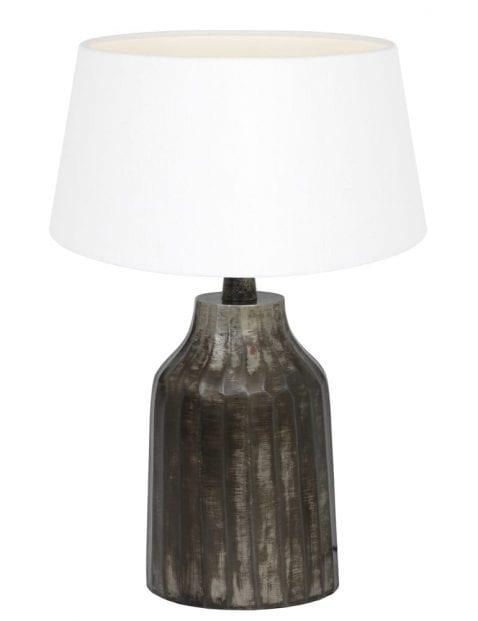 Grijze landelijke vaaslamp-9282ZW