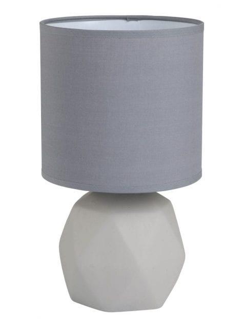 Betonnen tafellamp met kap Trio Leuchten Pike grijs