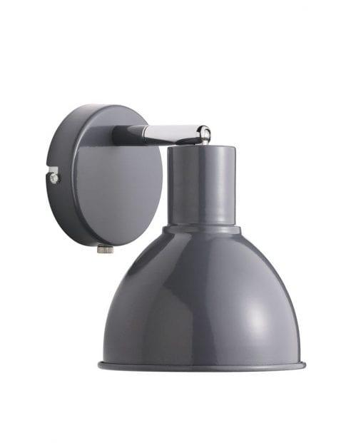 Grijze wandlamp industrieel-2348GR