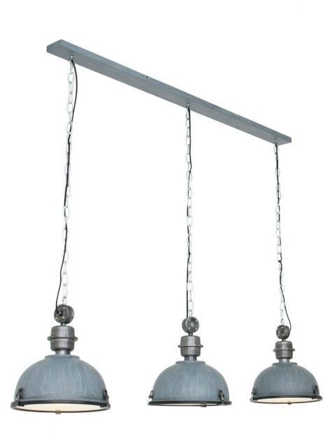 Hanglamp 3 lichts industrieel-7980GR