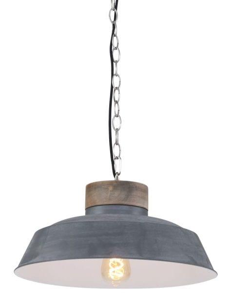 Hanglamp beton hout-7983GR