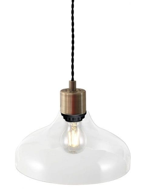 Hanglamp glazen kap-2138BR
