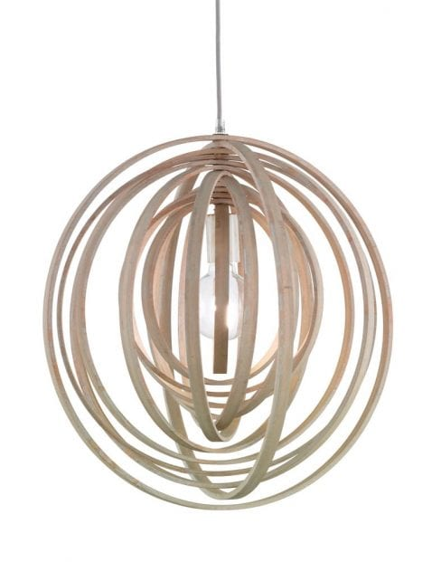 Hanglamp hout design-1614BE