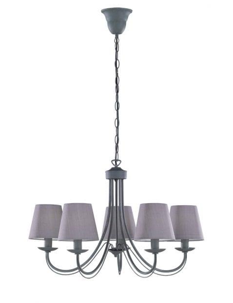 Hanglamp kroonluchter met kap-1616GR