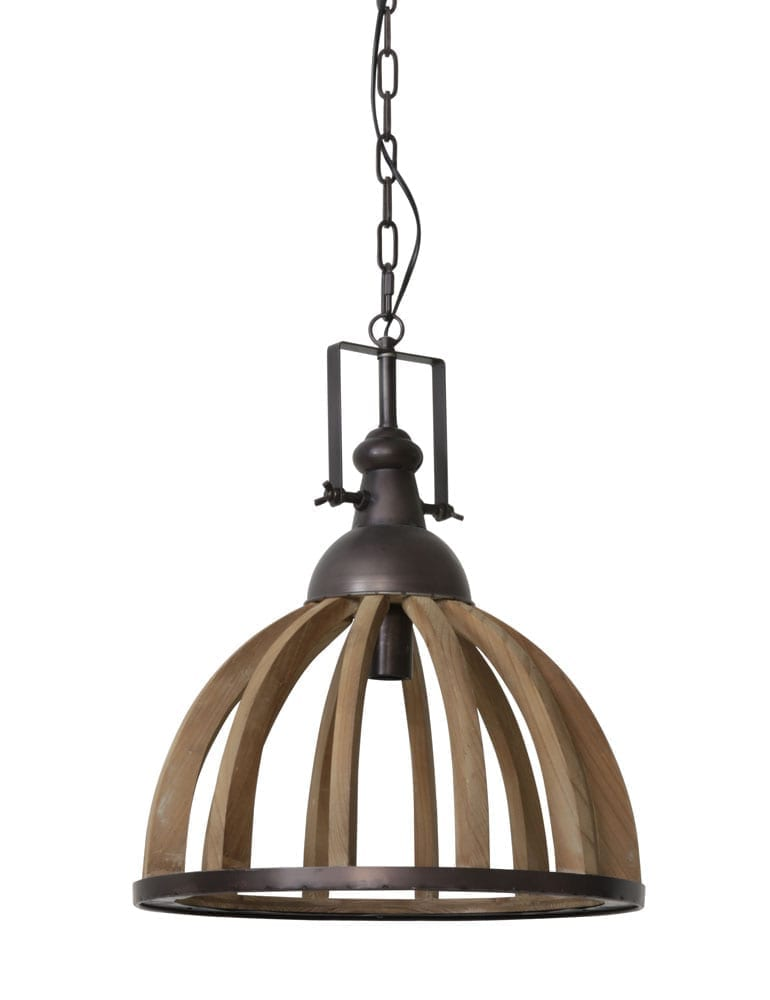 Landelijke Hanglamp Light Living Djem Hout Directlampen Nl