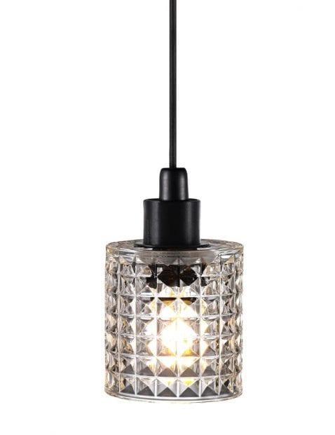 Hanglamp met kristallen glas-2305ZW