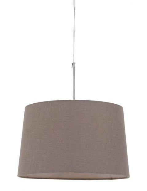 Hanglamp met taupe kap-9835ST