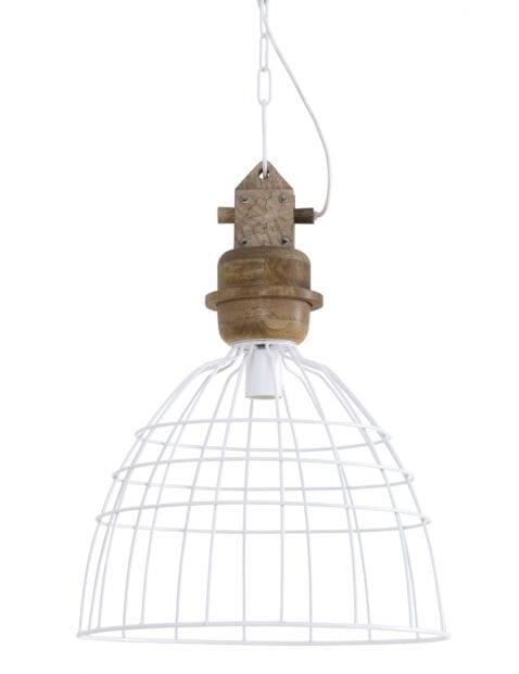 Houten draadlamp wit-1677W