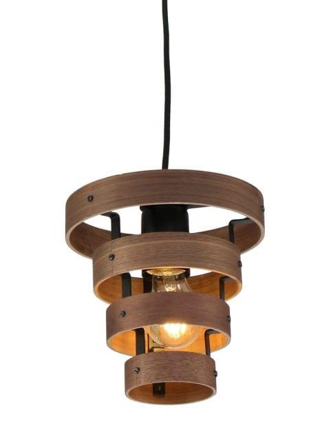 Houten hanglamp zwart-2119ZW