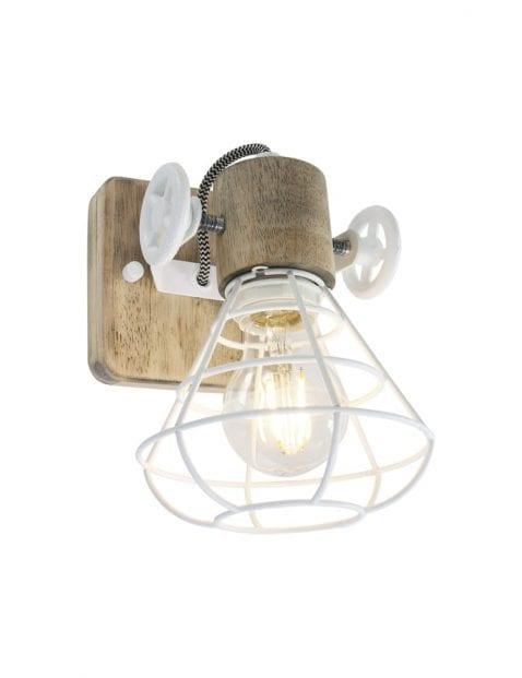 Houten wandlamp draad-1578W
