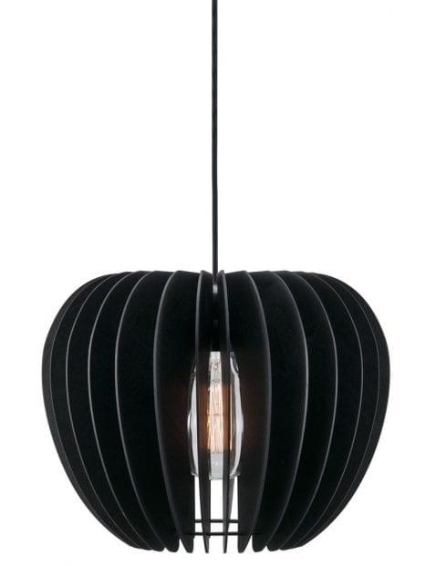 Houten zwarte draadlamp-2386ZW