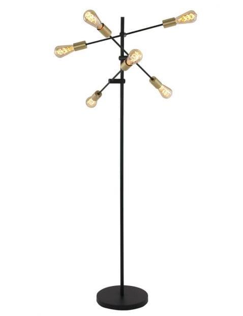 Industriele vloerlamp 6 lichts-1638ZW