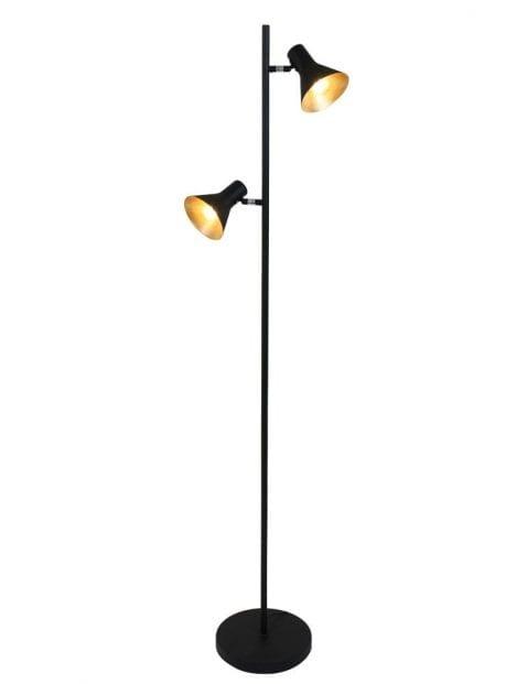Industriele vloerlamp tweelichts-1627ZW