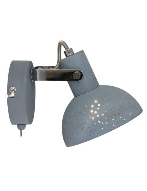 Industriele wandlamp met gaatjes-1723GR
