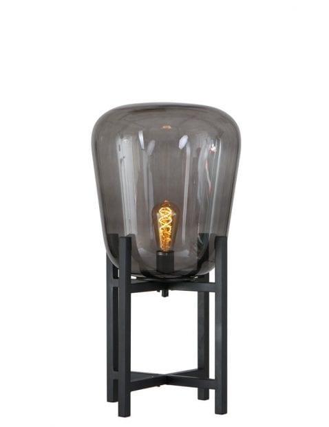Klein tafellampje met rookglas-2122ZW