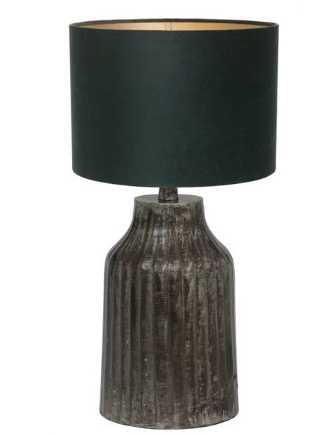 Kleine lampenvoet donkergrijs-9290ZW