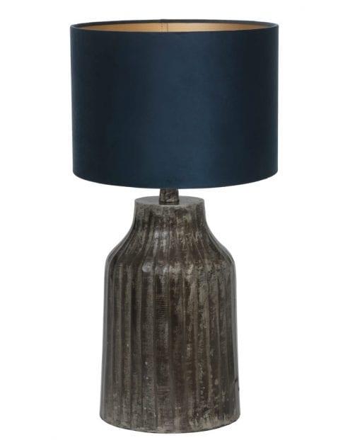 Kleine lampenvoet donkergrijs-9291ZW