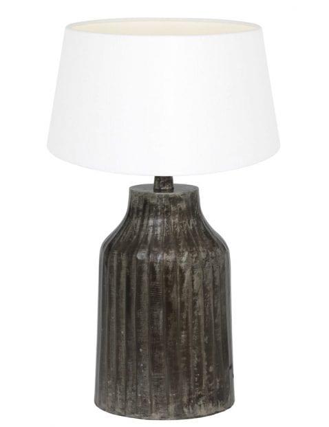 Kleine lampenvoet donkergrijs-9292ZW