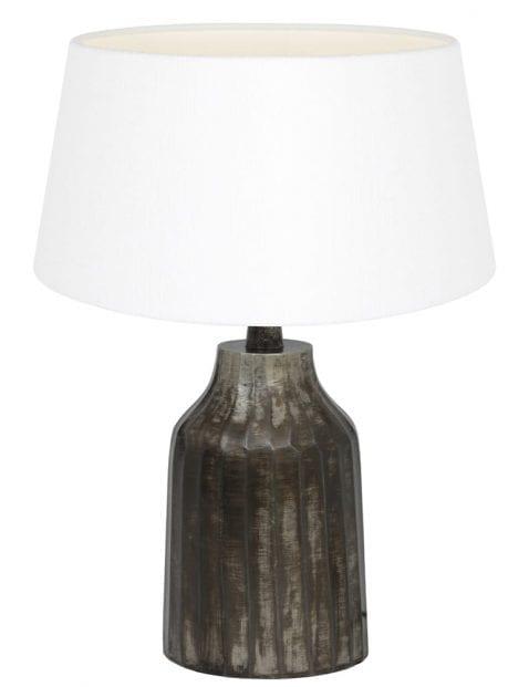 Kleine lampenvoet grijs-9289ZW