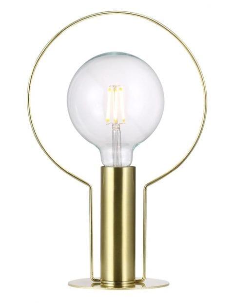 Kleine tafellamp messing-2180ME